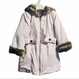 LILI GAUFRETTE Plush Reversible Coat*Age 2 $189